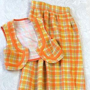 Vintage Skirt and Vest Set